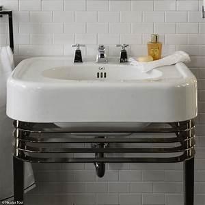 lavabo totem castorama meuble sous vasque dangle powell With carrelage adhesif salle de bain avec lampe led sur pied ikea