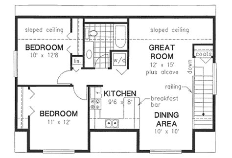 ranch building bungalow style house plan 2 beds 1 baths 928 sq ft plan