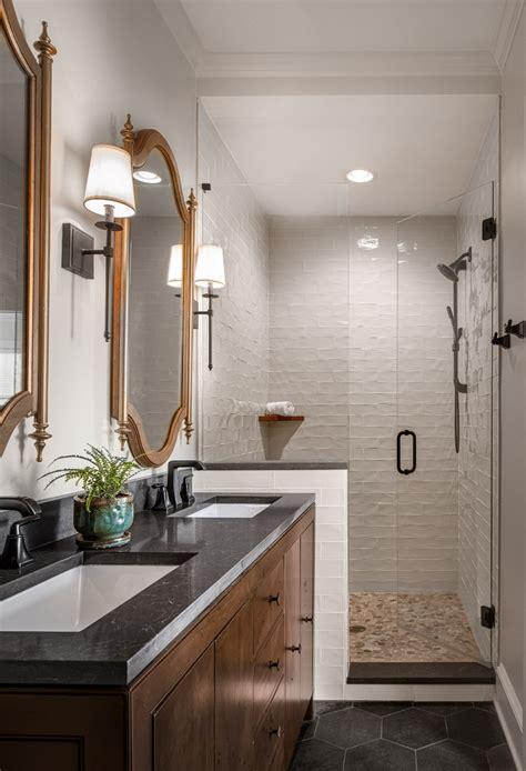 guest master bathroom remodel  atlanta transitional