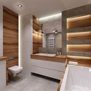 Salle De Bain Bois : salle de bain moderne les tendances actuelles en 55 photos ~ Teatrodelosmanantiales.com Idées de Décoration