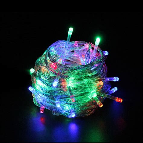 led christmas string lights outdoor outdoor waterproof led string light 10m 100led ac110v or ac220v led light with