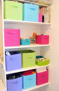 Organizing Craft Supplies {in Small Spaces}