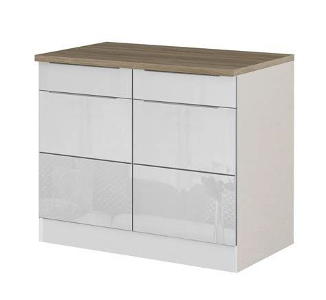 Ikea Küchen Unterschrank Tiefe by K 252 Che Unterschrank 100 Cm Breit Unterschrank K 252 Che Wei 223