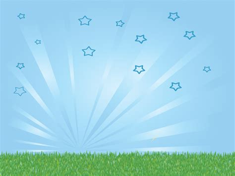 bright sky  grass powerpoint templates nature