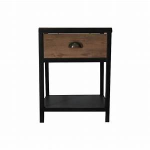 Table De Chevet Metal : table de chevet style m tal x x achat ~ Melissatoandfro.com Idées de Décoration