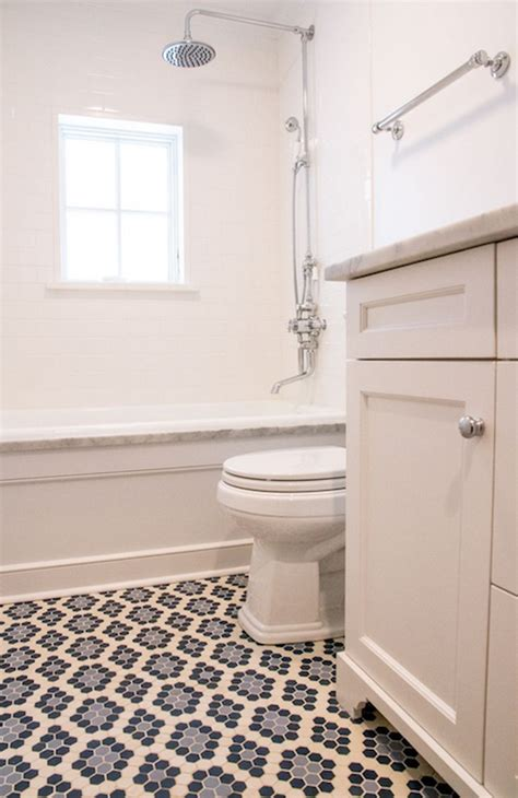 Mosaic Tile Shower Floor - shower niche transitional bathroom isk design and