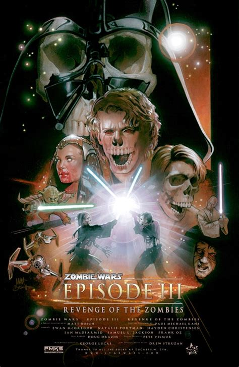 wars star posters dead hollywood zombie movie zombiefied
