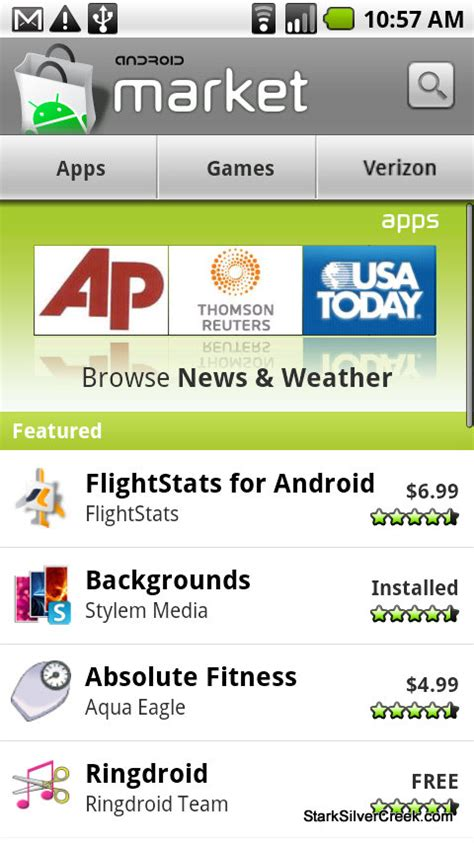 market android using the android market