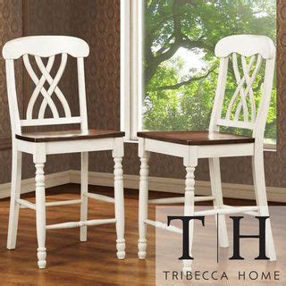tribecca home mackenzie counter height chair set of 2 by tribecca home antiques cherries
