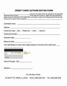 Credit Card Payment Authorization Form Template Credit Card Authorization Form Fill Online Printable