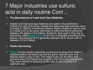 10 major industrial applications of sulfuric acid