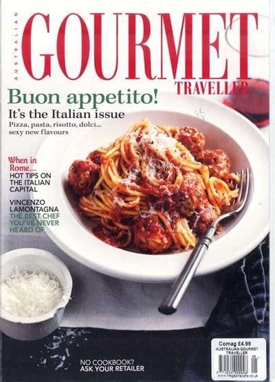 australian gourmet traveller magazine    italian issue eat  books