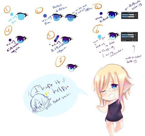 medibang paint pro tutorial eyes coloring  ktekuth