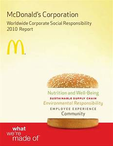Mc Donald Sustainable Environment Essay ...