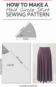 How To Make A Skirt In One Day  Easy Half Circle Skirt