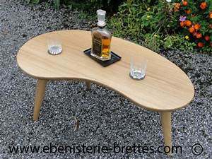 Table Design En Bois Massif Courbe Sur Mesure Fabrique