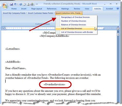 customizing word docs  quickbooks information