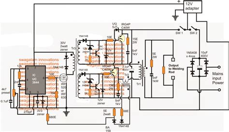 smps welding inverter circuit homemade circuit projects