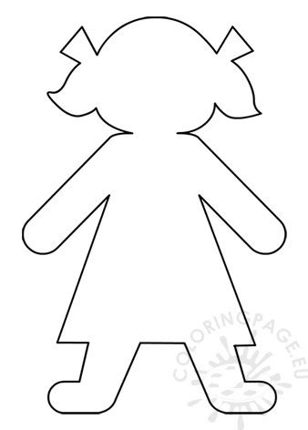 girl paper doll template coloring page