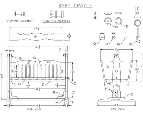 wooden baby cradle woodworking plans  lees wood