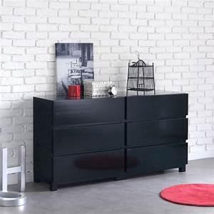Commode Noir Laqué : commode noir ~ Teatrodelosmanantiales.com Idées de Décoration