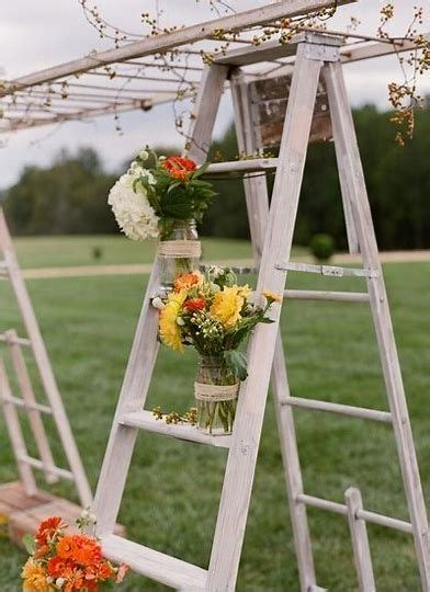 Old Wooden Ladders Decorating Ideas Weddings Bing images