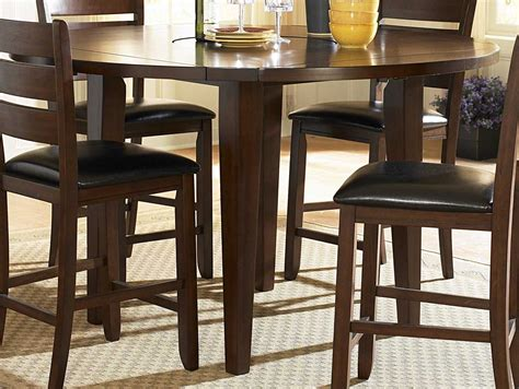 round bar height table and chairs bar pub tables sets ameillia 5 pc round counter