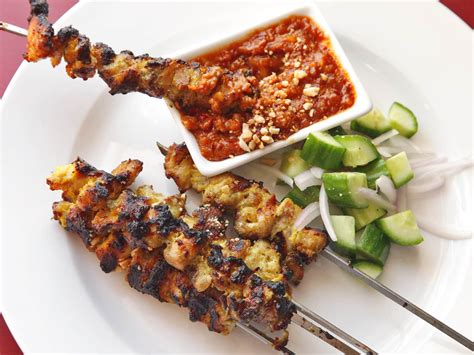 chicken satay make better than restaurant thai style chicken satay with coconut serious eats