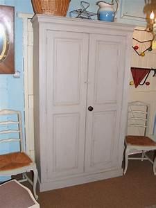 Vintage French Painted Larder Cupboard La Belle Étoffe