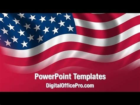 flag waving powerpoint template backgrounds