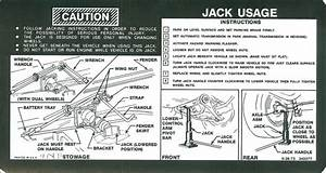 1974 75 76 77 Chevy Truck  Gmc Truck Jack Instruction Decal