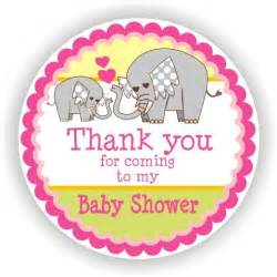 Thank You for Coming Baby Shower