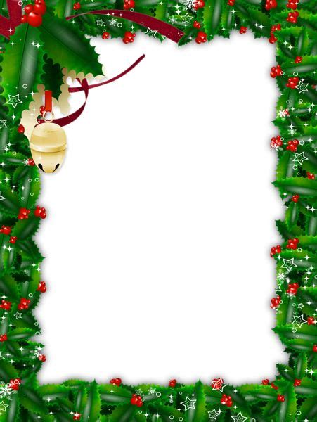 transparent christmas green photo frame ramki tsvetok