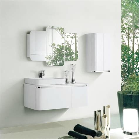 meuble rangement salle de bain blanc chaios