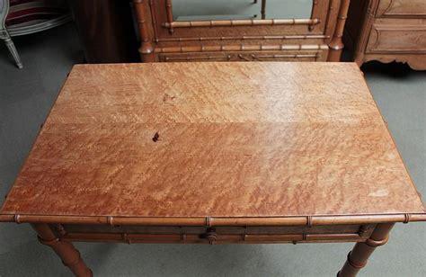 bureau bambou table bureau quot bambou quot en erable et cerisier xxeme