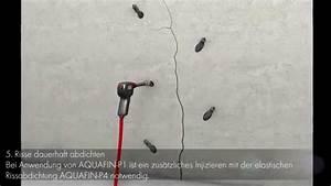 Risse Im Außenputz : abdichtung wasserf hrender risse in wandfl chen youtube ~ Frokenaadalensverden.com Haus und Dekorationen