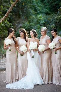 sequin bridesmaid dress 2016 wedding trends sequined and metallic bridesmaid dresses deer pearl flowers