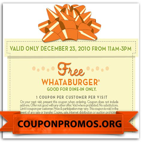 32433 Whataburger Printable Coupons printable whataburger coupons for august september october