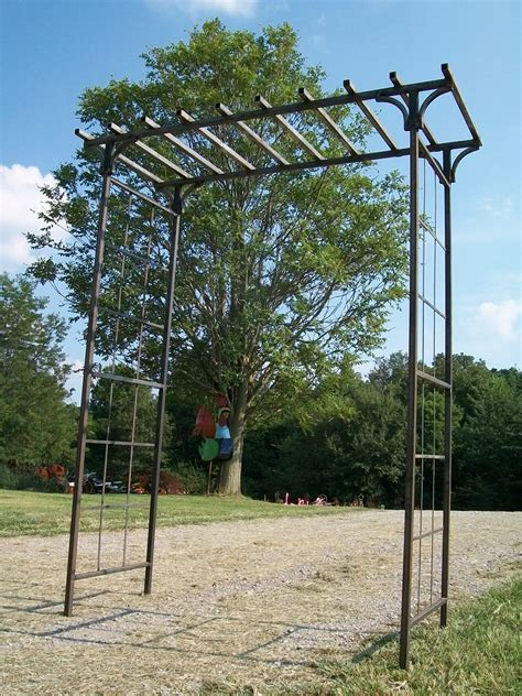 wrought iron arbor with gate wrought iron mission flower vine arbor structure 1966