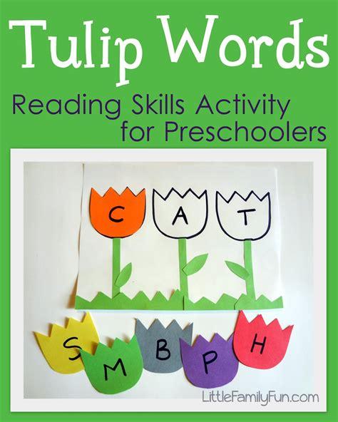 tulip words reading activity for preschoolers 240 | 137