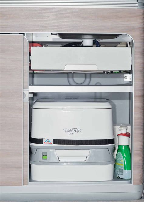 vw t6 cer mit toilette brandrup porta potti 335 qube handle and protection tray for all vw t5 california