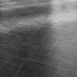 faus black slate 8mm tile effect laminate floor 40346003