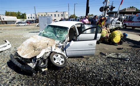 Car Crashes Into Train In Downtown Lodi