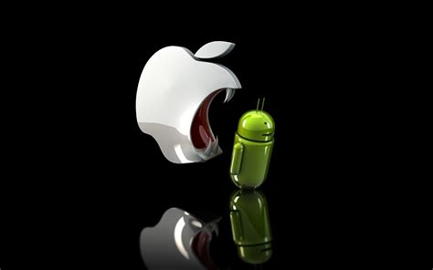 android vs iphone android vs apple logo