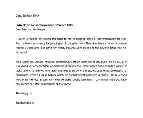 sample employment letter   documents  word