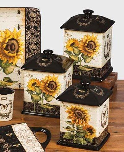 Sunflower Canister Sets Kitchen by Sunflowers Canister Set By Certified International