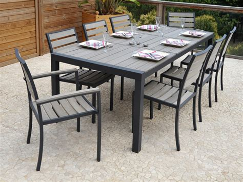 ensemble table et chaises de jardin ensemble table chaise exterieur table de jardin metal