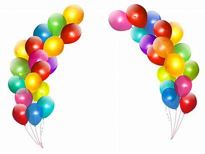 Balloons Transparent Clipart Colorful Decor Birthday Clip