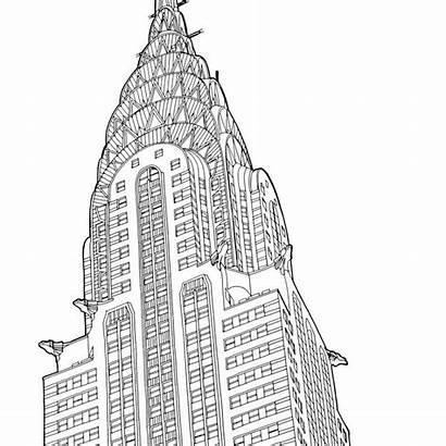 Coloring Buildings Adult Pages Places Printables Alix