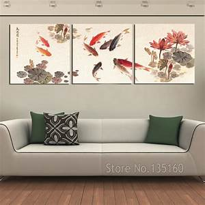 3 piece wall art picture traditional chinese calligraphy With wall decor paintings